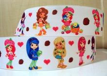 (5yds per roll) 10Y298 free shipping 1 '' girl printed ribbon Grosgrain ribbon welcome oem your own designs(China)