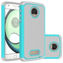 Hybrid Rugged Rubber Hard Silicone + PC 2 in 1 Shockproof Back Cover Case For Motorola Moto Z Play Case 5.5inch