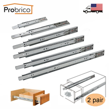 "Probrico Push To Open Slide 12""/14""/16""/18""/20""/22"" Drawer Rail Full Extension Kitchen Furniture Drawer Slide 2 Pair(China)"