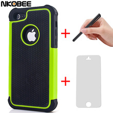 NKOBEE For iphone 7 Case Hybrid Silicon Back Case Cover For iphone 5C 5 C 5 5S 6 For iphone X 6 6S 7 Plus Touch pen+Screen Gift