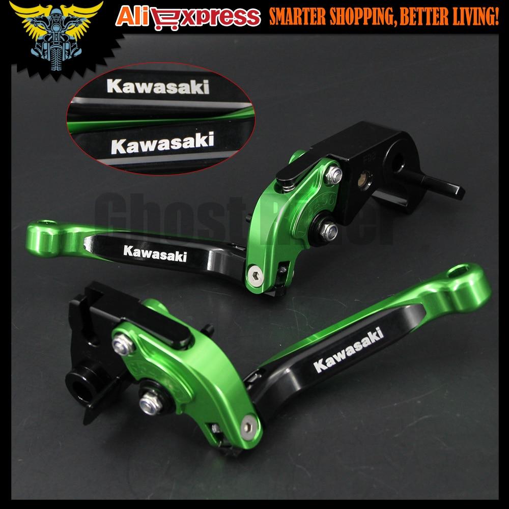 Green&amp;Black Motorbike Accessories CNC Folding&amp;Extending Brake Clutch Levers For Kawasaki NINJA 650R/ER-6F/ER-6N Z1000 ZXR400  <br><br>Aliexpress