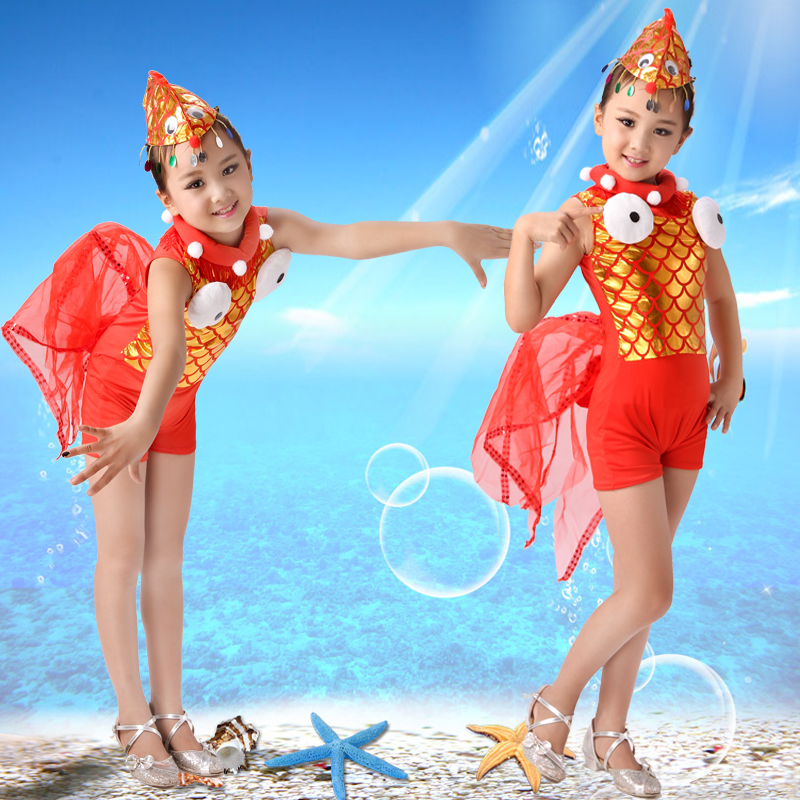children's fish costumes for girls goldfish clothing kindergarten performance clothes animal dance costumes festival dance