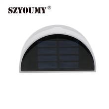 SZYOUMY Solar Fence Post Light Outdoor Solar Powered RGB LED Garden Light Wall Mount Decorative Deck Lighting Pathway Back Yard(China)