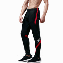Running Pants Men Professional Sports Leggings Running Gym Fitness Yoga Pants Zipper Skiny Leg Soccer Football Training Pants