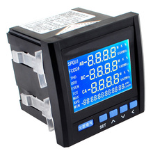 3P Three Phase Digital Multifunction Meter Energy Accumulation RS-485 V A Hz P Q Network Table Black Color Free Shipping12003253