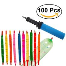 100 Pcs Rocket Balloons With Pump Party Favor Supplies Long Balloon Birthday Party Supplies