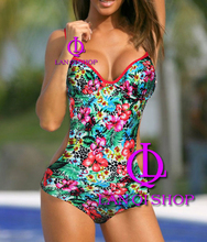 Sexy new green Wild One Piece Underwired MONOKINI padded ladies swimwear SWIMSUIT size S M L XL Free shipping