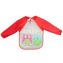 NEW EVA Plastic Waterproof Long Sleeve Cartoon Pattern Infants Baby Bibs Apron Unisex Children Clothing BB01
