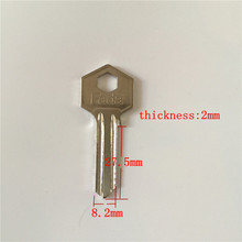 Locksmith supplies brass door key blanks A127 blank key 2.0mm thickness 27.5mm length[15pcs/lot](China)