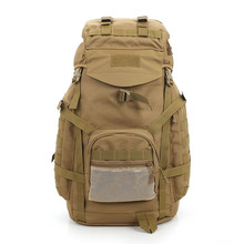 60L Unisex Outdoor military tactical backpack camping hiking backpack mountaineering bags mountaineering sports bag 4 color