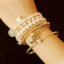 Korean fashion Statement Charm Multilayer Bangle and Bracele Free Shipping