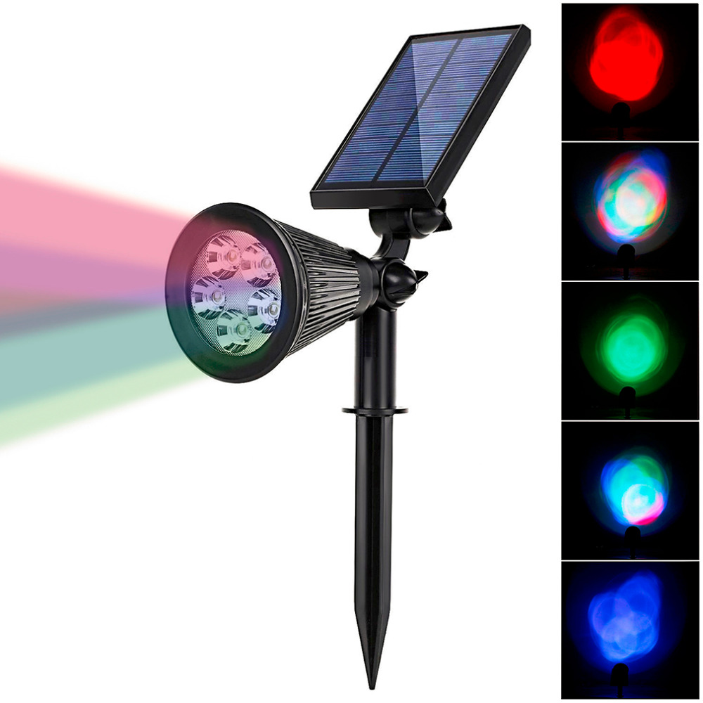 High Power Solar Power LED Lawn Light IP65 Waterproof Outdoor Garden Path  Spot Lamp Colorful RGB
