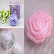 100pcs/Lot+Rose Wedding Favors Scented Soaps Flower Fancy Soap-3 Colors Available Bridal Shower Gift Soap Favor+FREE SHIPPING