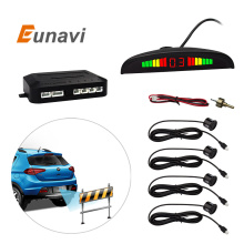 Eunavi 1Set Car LED Parking Sensor Kit Display 4 Sensors for all cars Reverse Assistance Backup Radar Monitor System