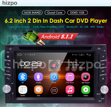 "Android 5.1 Car DVD Player For Universal 2 Two Din 6.2"" In Dash Car DVD Player Radio With 3G/wifi USB BT Steering Wheel Free map"
