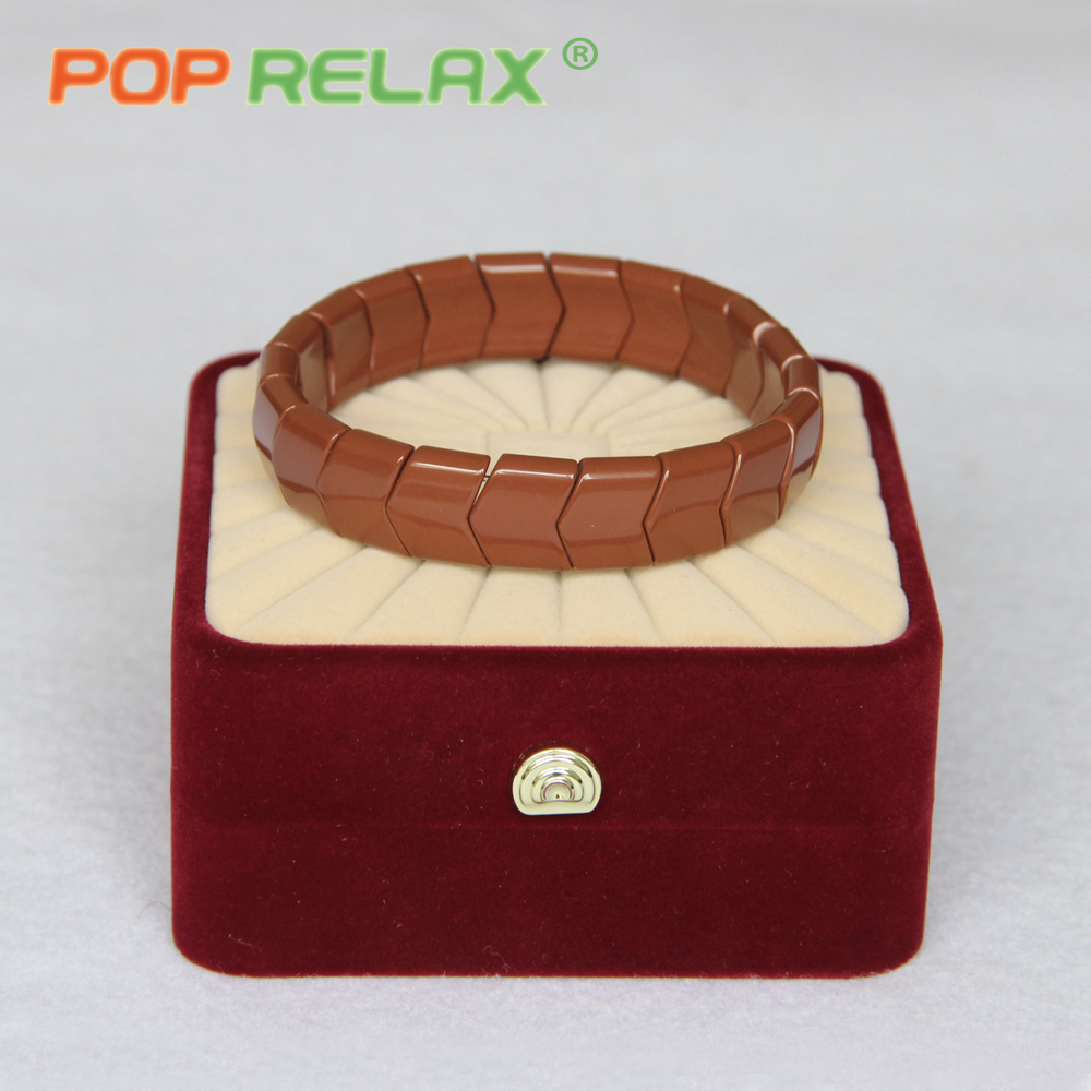 POP RELAX Korea healthcare germanium bracelet for women negative anion physical therapy energy tourmaline stone bracelet for men<br>
