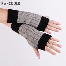 Winter 2017 grey Knitted Fringe Warm Lovers Gloves lady women Arm Warmer Cold weather necessities