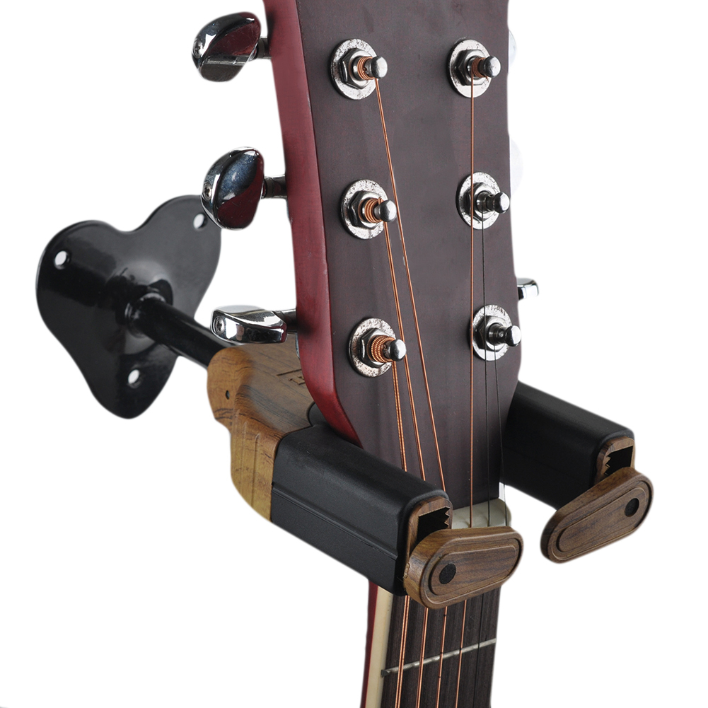 2017 High Quality Guitar Wall Short Hook Automatic Gravity Lock Hook Musical Instrument Show Guitar Accessories Guitar Stand(China)