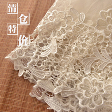Bilateral Positioning Embroidered Milky White White European Root Yarn Small Dress Clothes Crisp Fabric