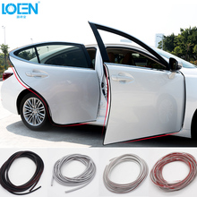 LOEN 5M/PC Soft Invisible Car stickers door decorative protect Anti-collision rubbing strips Car styling for toyota vw audi(China)