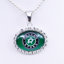 Necklace NHL Dallas Stars Charm Pendant Ice Hockey Jewelry for Women Gifts Party Birthday Wholesale 2017(China)