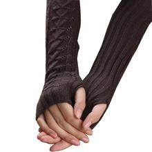 High Quality Gloves Women Warm Knitted Fingerless Long Gloves Mitts Autumn Mittens Women's Winter iGlove Guantes Mujer Christmas
