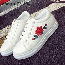 2017 Spring New Fashion Shoes Shallow Mouth Shoes Embroidered Flower Comfortable Lace-up Flat Women Shoes LDD0048