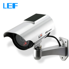 Solar Power Dummy Fake Camera Outdoor Security CCTV Surveillance Simulation Camera with Flash LED Light(China)