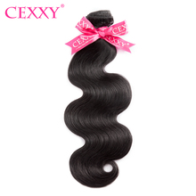CEXXY Brazilian Virgin Hair Body Wave Nature Color 100% Human Hair Bundles Free Shipping