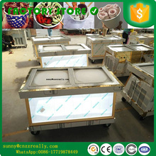 four universal wheel Factory Supply Wholesale price Thai fried ice cream machine suppliers fry ice cream machine price