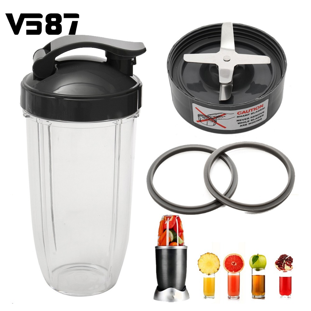 Blender Spare Parts Stainless Steel Juicer Jar Set Cup + Flip Top Lid + Extractor Blade + 2 Fitted Gaskets(China (Mainland))