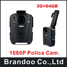 64GB A12 Waterproof IP65 Police Body Worn Camera with IR night vision+ 3G function