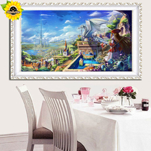"Aml Home Full round Diamond DIY Painting ""The Anime Kingdom ""Embroidery Cross Stitch Rhinestone Mosaic Painting y0049(China)"