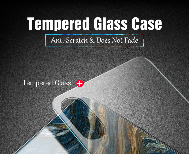 TOMKAS Luxury Marble Phone Case for iPhone X 10 Tempered Glass PC Agate Back Cover Silicone Soft Edge Coque Case for iPhone X (2)