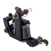High Strength Stable Working Speed Black Pig Iron 12 Wraps Coils High Rotating Speed Tattoo Machine Shader Guns Body Art