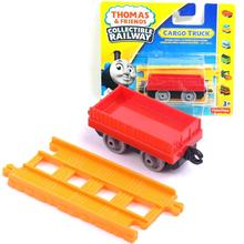 x125 Free shipping New Flatbed truck product Diecast hook Thomas Cargo truck with hook children train toy gift(China)