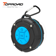 TOPROAD Waterproof IPX7 Bluetooth Speaker Portable Sucker Handsfree Hoparlor Wireless Stereo Shower loudspeaker with Microphone(China)