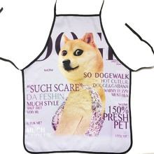 Women Novelty Cooking Kitchen Single Dog Print Sexy Apron Baking Present Pinafore Chef Funny aprons for women