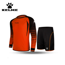 KELME Official Soccer Uniform Keeper Kits For Teams Tracksuits Football Goalkeeper Jerseys Men Long Sleeve Shorts O-Neck 28