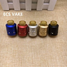 Rabies RDA Mad Dog V2 Atomizer Clone 24MM Diameter PEI Drip Tips E Cigarette 5 Colors Fit 510 Mods