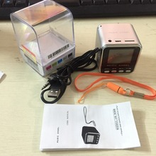 New Fashion Music Angel Mini Speaker FM radio Boombox JH-MD08 for Computer iPad and Mobile Phone support download