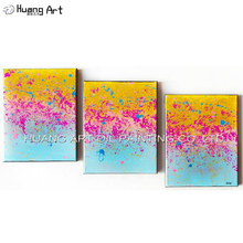 Original Oil Painting by Skill Painter Abstract Oil Picture for Living Room Home Decor Handmade Modern 3 Pcs Group Paintings(China)