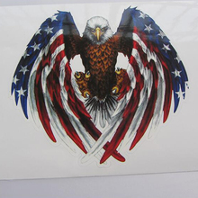 very cool America eagle large size 25cm*18cm glue stickers on car Creative car-styling