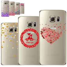 Pink Love Butterfly Heart Watercolor Phone Cases For Samsung Galaxy S7 S7edge Soft Silicon Cover Shell