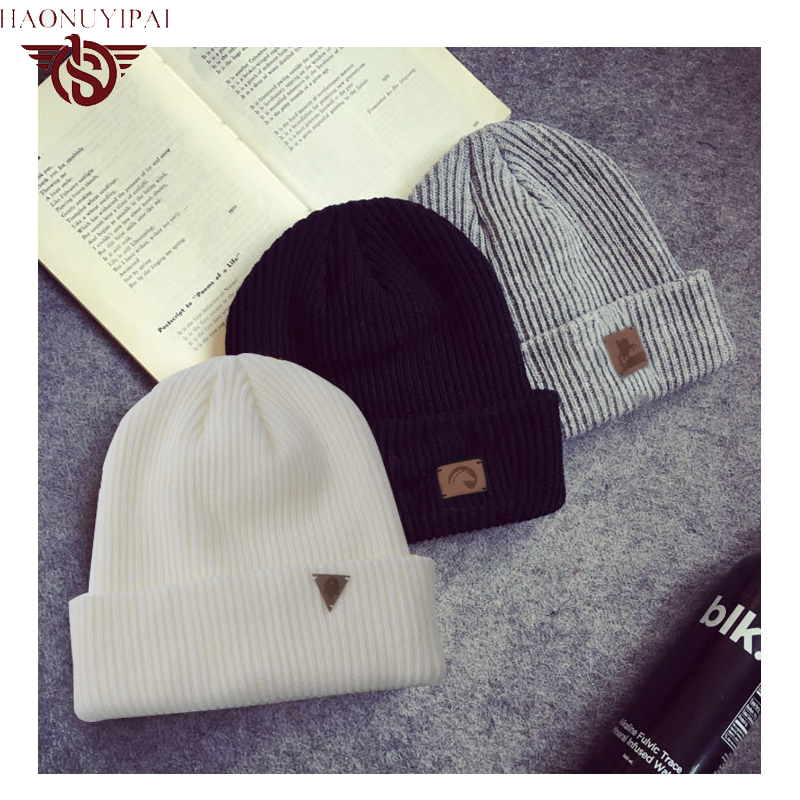 2016 New Unisex Brand Men Women Winter Skiing Caps Keep Warm Knitted Hat Beanies Custom Patch Solid Color Skullies Beanies PB001Îäåæäà è àêñåññóàðû<br><br><br>Aliexpress