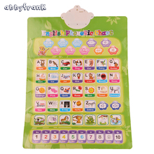 Abbyfrank Russian English Learning Machine Electronic Baby Alphabet Music Toy Educational Phonetic Chart Early Language Toy