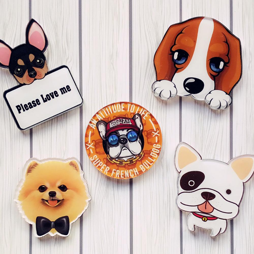 Hot-Kawaii-Harajuku-Style-dog-Badge-Acrylic-Brooch-For-Women-Man-Clothes-Badge-Decorative-Rozet-Collar (2)