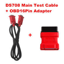 2016 New Arrival 100% Original Autel MaxiDAS DS708 Main Test Cable + OBD16Pin Adapter Free Shipping(China)