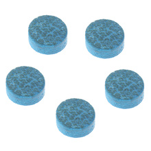 5 Pieces 10mm/0.39inch Blue Diamond Leather Glue-on Snooker Pool Billiard Cue Tips for Indoor Games Snooker Billiard Accessories(China)