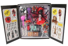 The monster Bobbi doll joint removable black spider girl doll display box gift bag mail selling high quality animation toys